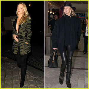 Rosie Huntington-Whiteley Rocks Zebra Stripes in Paris