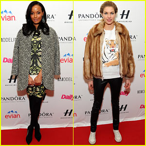 Selita Ebanks & Jessica Hart: Models Issue Party at NYFW!