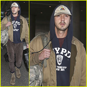 Shia LaBeouf Shows His Face After Paper Bag Berlin Premiere!