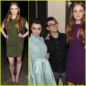 Sophie Turner & Maisie Williams: 'Game of Thrones' Girls Sit Front Row at Christian Siriano