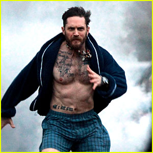 Tom Hardy Runs Shirtless in His Boxers for Stand Up to Cancer!