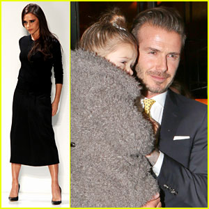 Victoria Beckham: David & Kids Sit Front Row at Fashion Show!