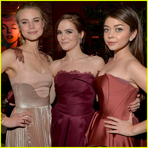 Zoey Deutch Changes Dresses for 'Vampire Academy' After Party