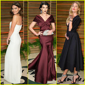Alyssa Miller & Crystal Renn - Vanity Fair Oscar Party 2014