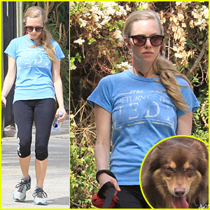 Amanda Seyfried & Finn Enjoy Healthy Treadmill Workout - Watch Video Now!