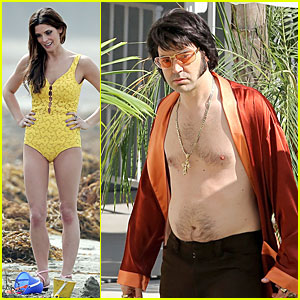 Ashley Greene & Ron Livingston Show Some Skin As Elvis & Priscilla Presley!