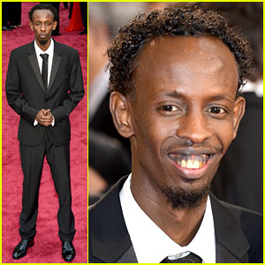 Barkhad Abdi is the Captain Now on Oscars 2014 Red Carpet