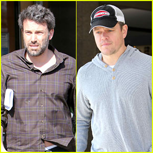 Ben Affleck & Matt Damon Meet Up for Lunch & All is Right in the World!