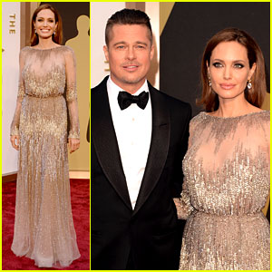 Brad Pitt & Angelina Jolie - Oscars 2014 Red Carpet