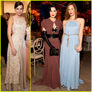 Camilla Belle & Dita Von Teese: Ferragamo's Mid-Winter Gala!