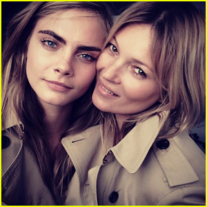 Cara Delevingne & Kate Moss Team Up for New Burberry Fragrance Campaign!