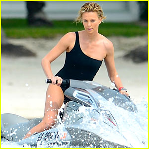 Charlize Theron's Bathing Suit Body is So Enviable As She Works a Jet Ski