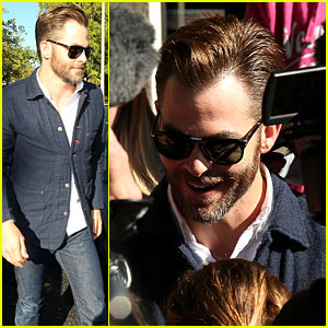 Chris Pine Attends Cour