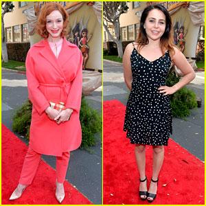 Christina Hendricks & Mae Whitman Are Pixie Perfect at ...
