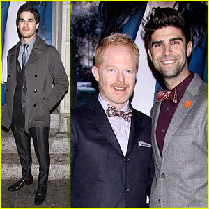 Darren Criss & Jesse Tyler Ferguson Support Idina Menzel's New Broadway Show 'If/Then'!