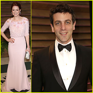 Ellie Kemper & BJ Novak Bring Back 'The Office' at Vanity Fair Oscars Party 2014!