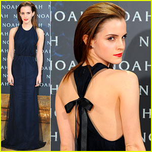 Emma Watson Begins 'Noah' Press Tour, Premieres Fil