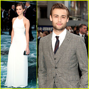 Emma Watson & Douglas Booth Take 'Noah' Home to London!