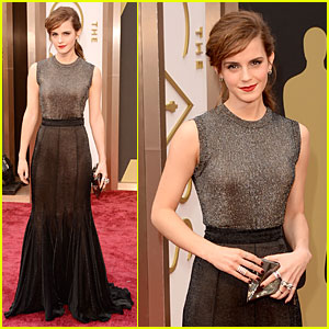 Emma Watson Rocks Metallic on Oscars 2014 Red Carpet!