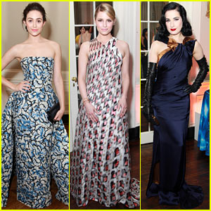 Emmy Rossum & Dianna Agron Go Glam for White Glove Gone Wild Gala!
