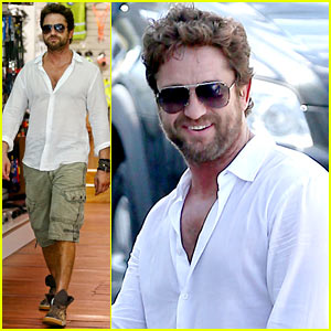 Gerard Butler Gives Us Just a Peek at His Shirtless Physi