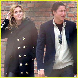 Heidi Klum & Boyfriend Vito Schnabel Spotted Out in Paris