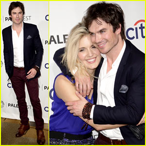 Ian Somerhalder Reunites with Maggie Grace &