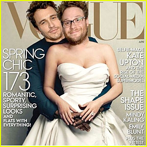 James Franco & Seth Rogen Spoof Kim Kardashian & Kanye West Again with 'Vogue' Cover!