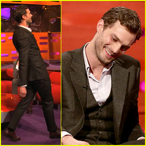 Jamie Dornan Demonstrates His Odd Way of Walking (Video)