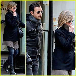 Jennifer Aniston & Justin Theroux Spotted For Firs