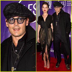 Johnny Depp Supports Amber Heard at the T