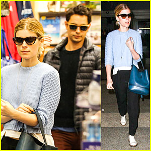 Kate Mara & Max Minghella Scan Tons of Magazine Covers at LAX!