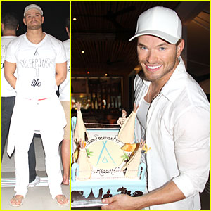 Kellan Lutz Celebrates 29th Birthday at Nikki Beach in Thailand!