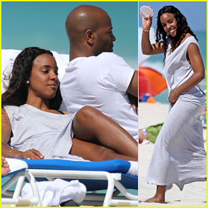 Kelly Rowland: Miami Beach Babe with Fiance Tim Witherspoon!