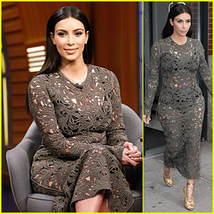 Kim Kardashian Shows Off Her Black Intimates in See-Through Dress!