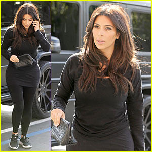 Kim Kardashian Makes a Very Dark Entrance at Production Office!