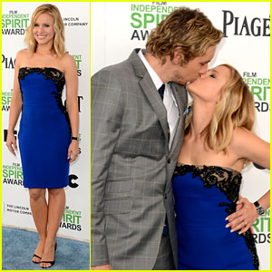 Kristen Bell & Dax Shepard Share Cute Kiss at Independent Spirit Awards 2014!