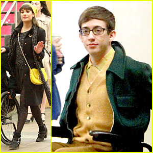 Lea Michele & Kevin McHale Take 'Glee' Underground in NYC!