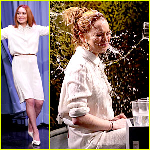 Lindsay Lohan Gets Water Thrown in Her Face by Jimmy Fallon!