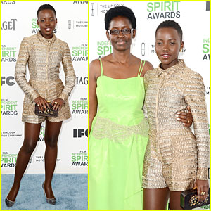 Lupita Nyong'o Brings Mom Dorothy to Independent Spirit Awards 2014