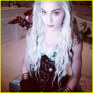 Madonna Dresses as Game of Thrones' Daenerys for Purim!