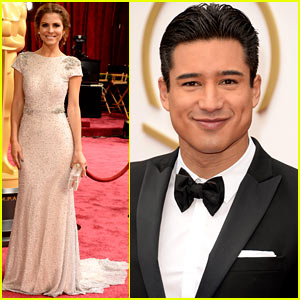 Maria Menounos & Mario Lopez - Oscars 2014 Red Carpet
