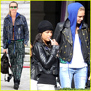 Michelle Rodriguez Joins Cara Delevingne for Paris Fashion Week Fun!