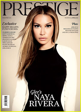 Naya Rivera Stuns on 'Prestige Indonesia' March 2014 C