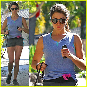 Nikki Reed Steps Out Without Her Wedding Ring During a Jog