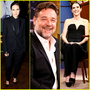 Noah's Jennifer Connelly & Russell Crowe Take Over Late Night!