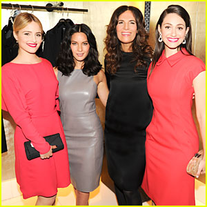 Olivia Munn & Dianna Agron Heat Up Martin Scorsese Oscars Celebration!
