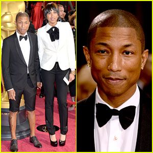 Pharrell Williams Wears Shorts on Oscars 2014 Red Carpet