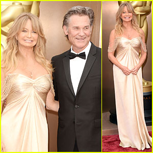 Presenter Goldie Hawn: Golden Goddess on Oscars 2014 Red Carpet with Kurt Russell!