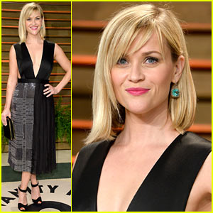 Reese Witherspoon Ready to Celebrate at Vanity Fair Oscars Party 2014!